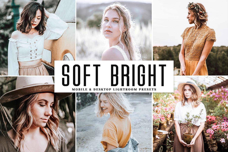 Soft Bright Mobile & Desktop Lightroom Presets - Soft Bright Mobile Desktop Lightroom Presets Cover 1 -