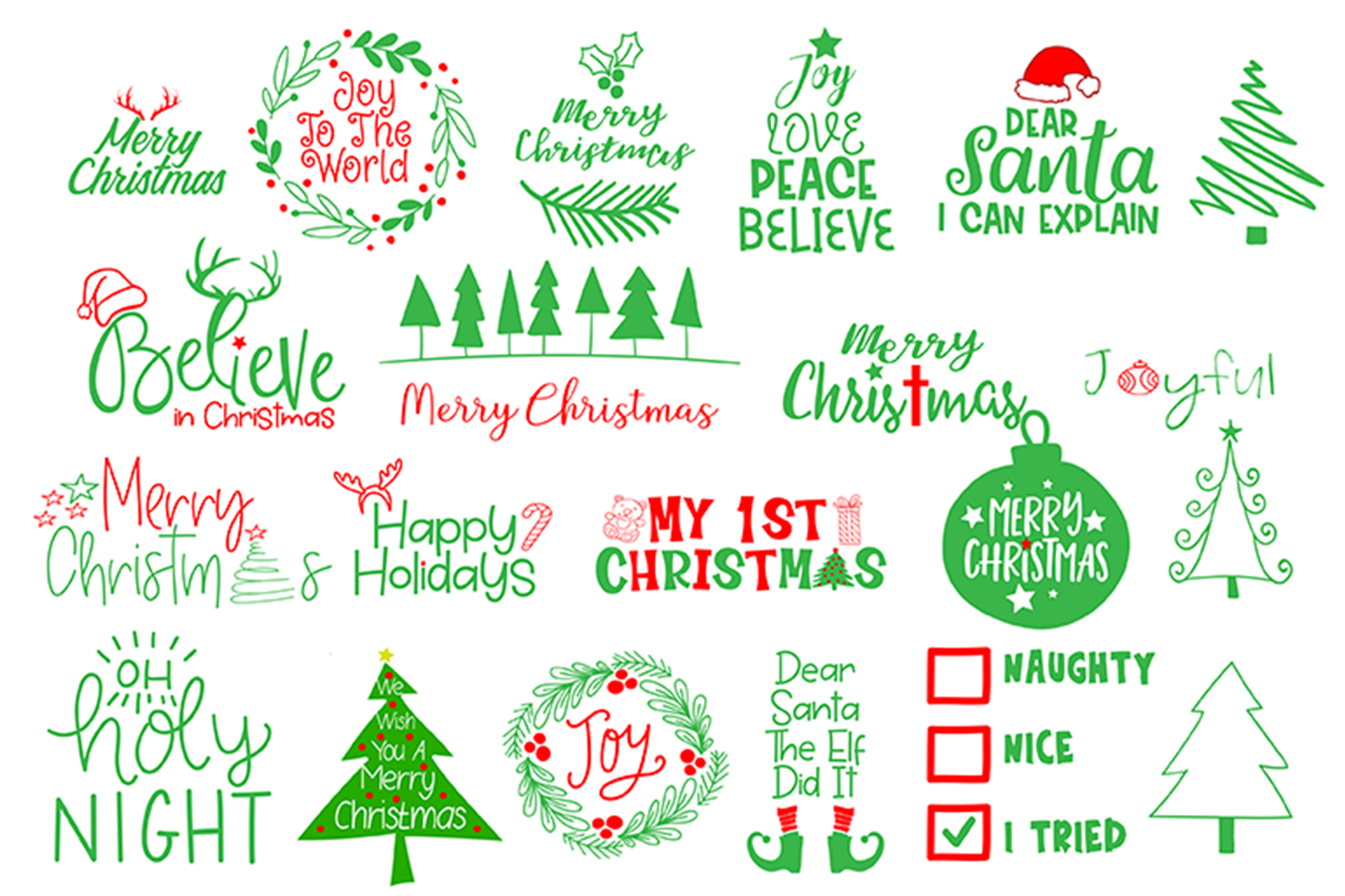 Christmas Svg Cut File Bundle Crella