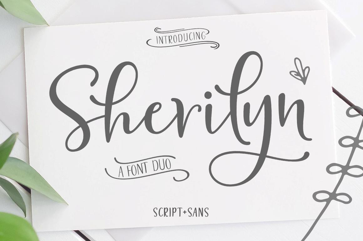 Sherilyn Script Font DUO - 1727 -