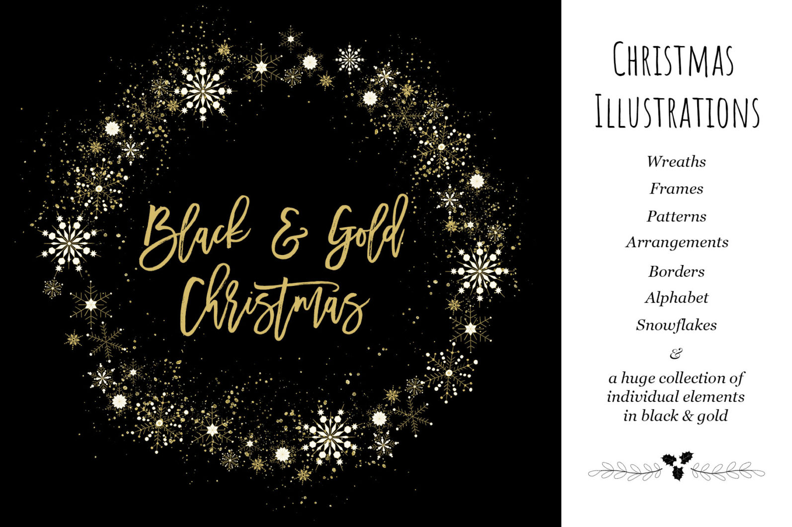 Black & Gold Christmas - chirstmas black gold title page -