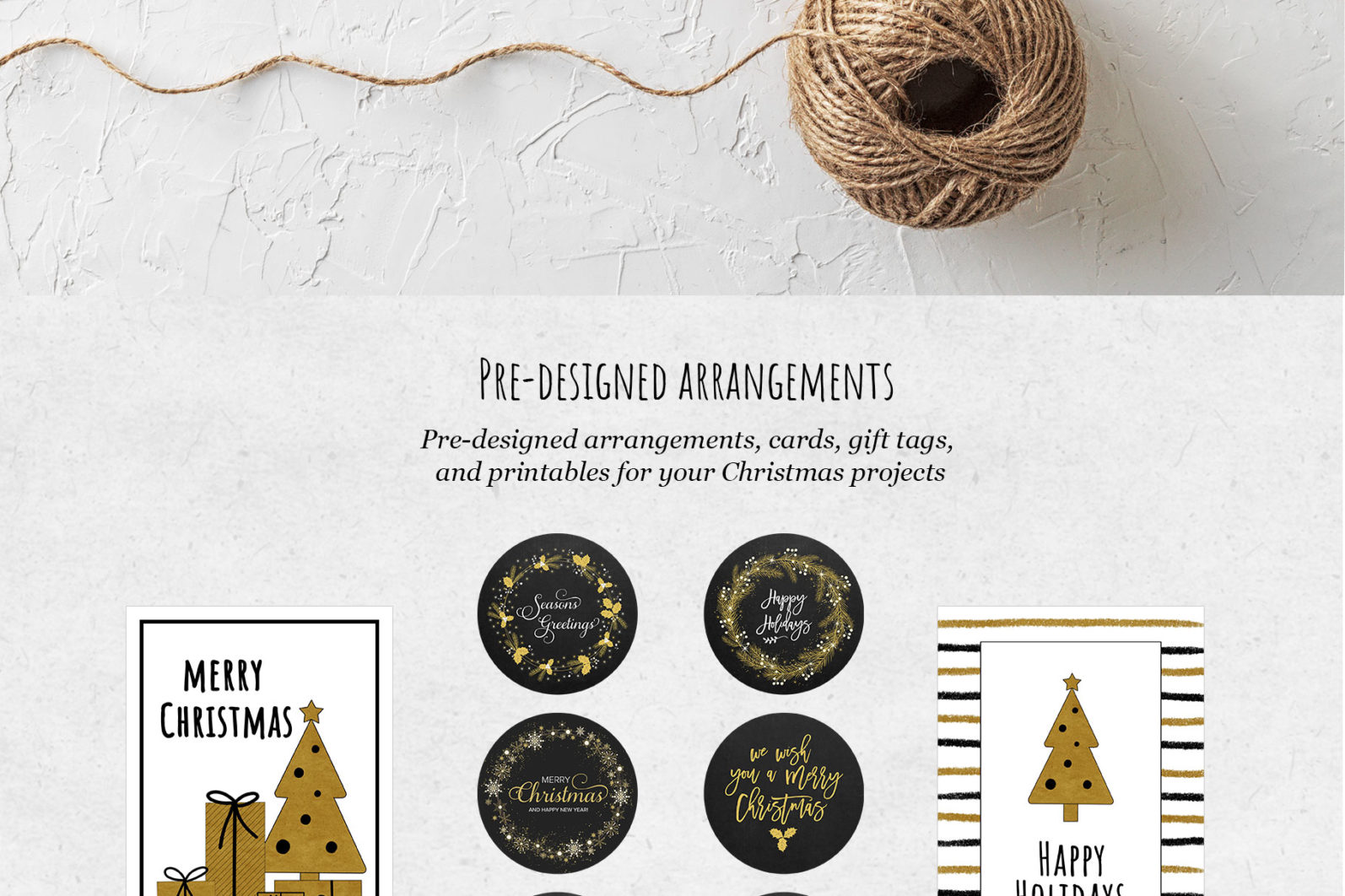 Black & Gold Christmas - chirstmas black gold arrangements page -