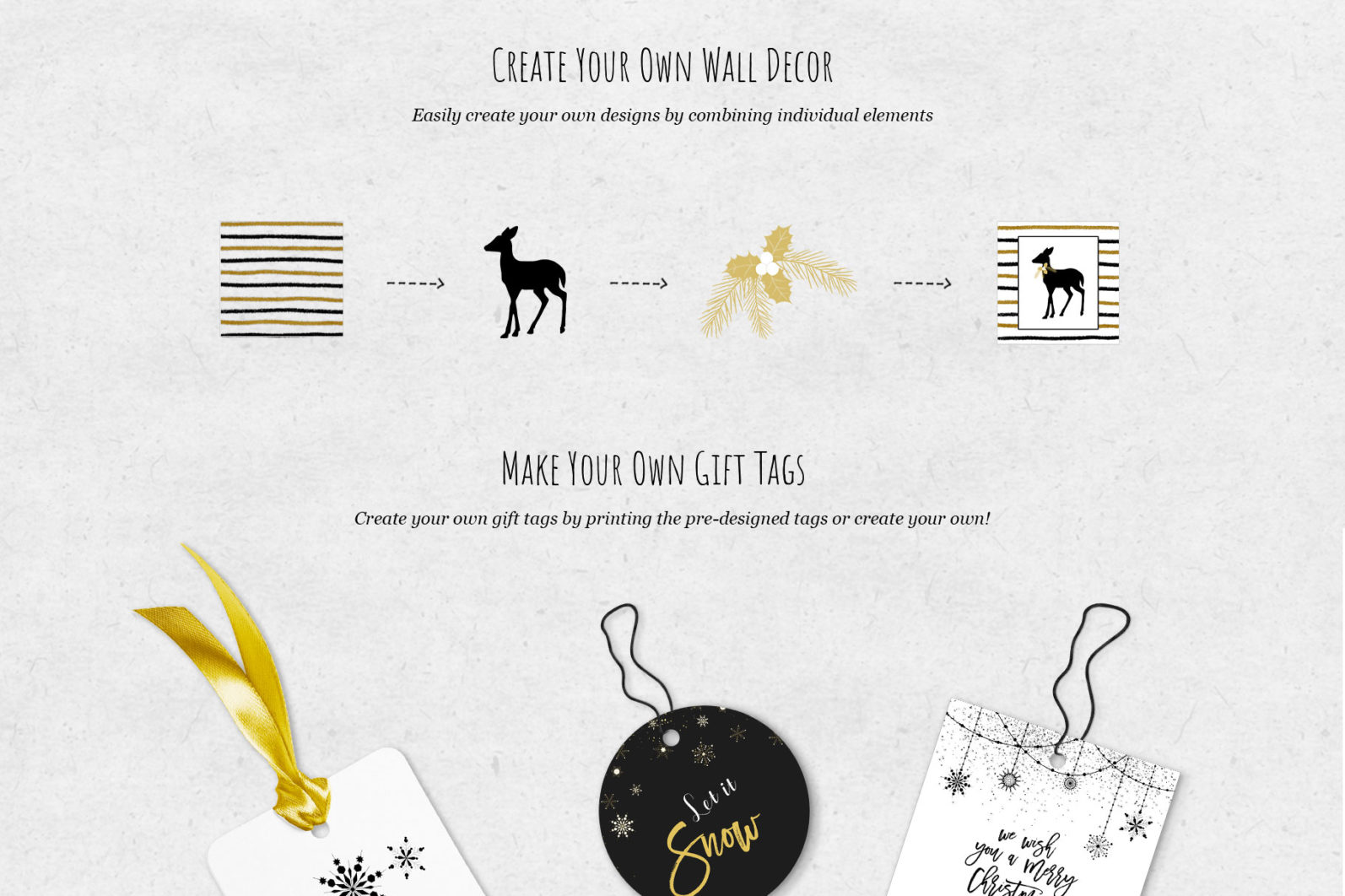 Black & Gold Christmas - chirstmas black gold create page -