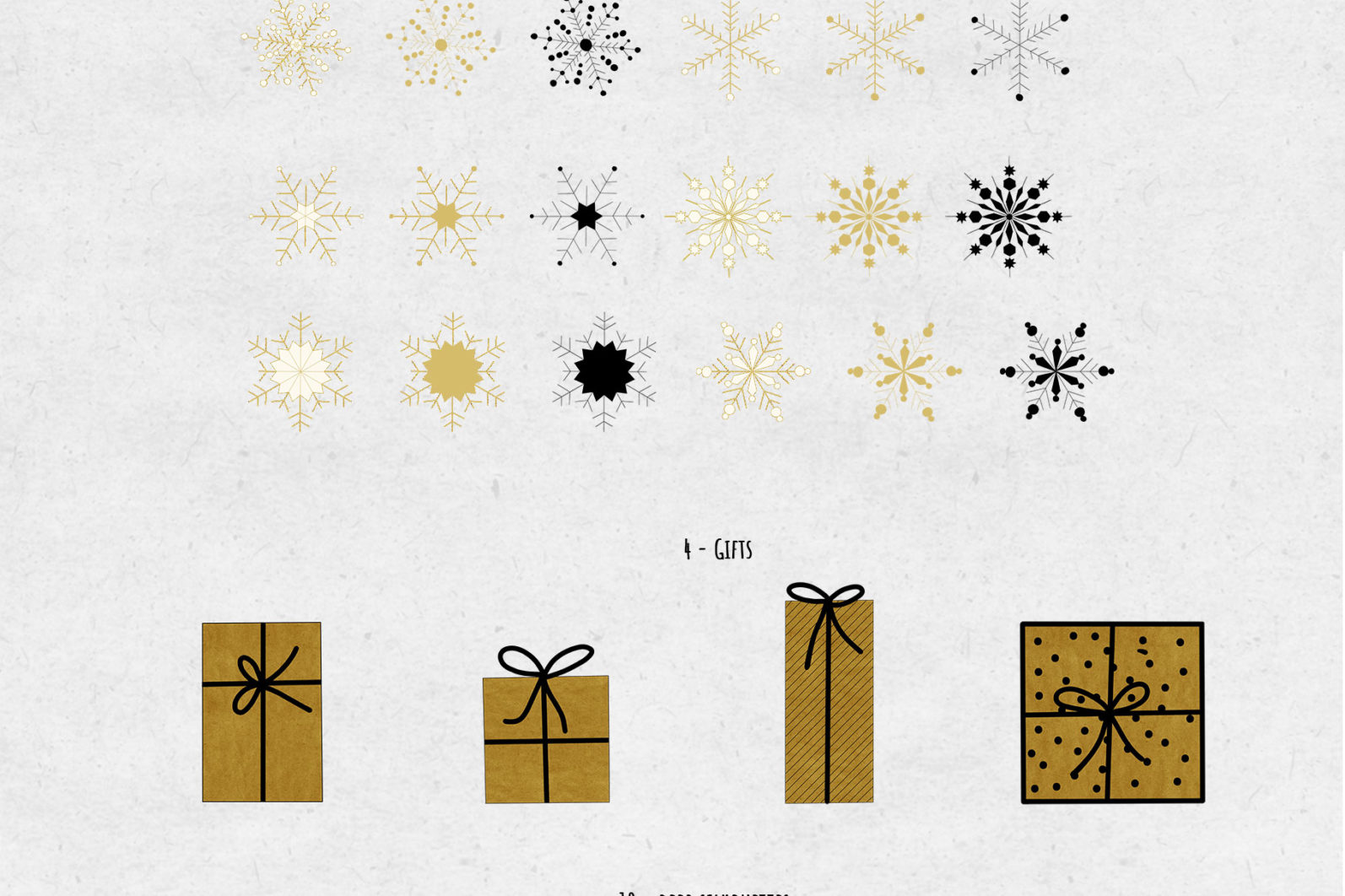 Black & Gold Christmas - chirstmas black gold elements page -