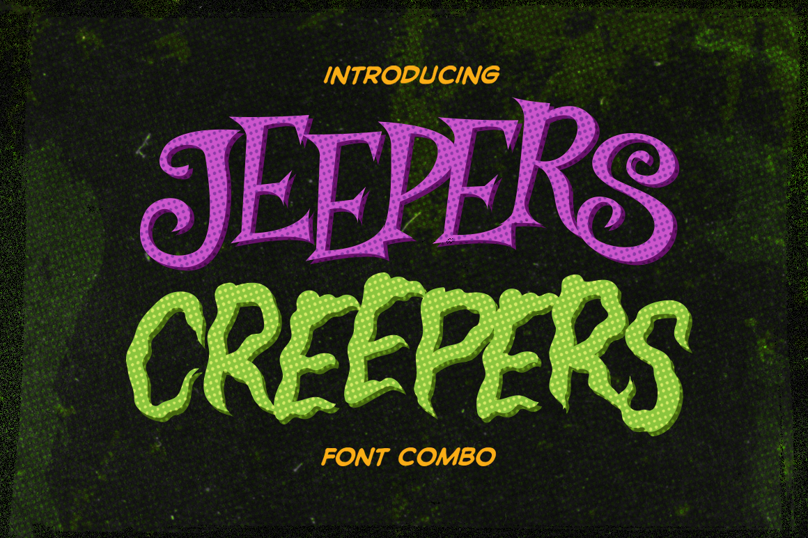 Jeepers Creepers Font Combo Crella