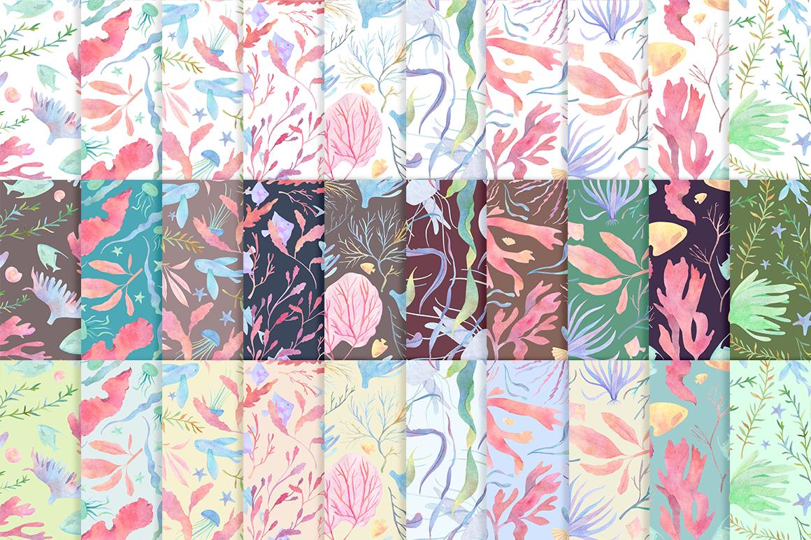Underwater watercolor patterns - 3 %D0%BB%D0%B5%D0%BD%D1%82%D0%B0 11 -