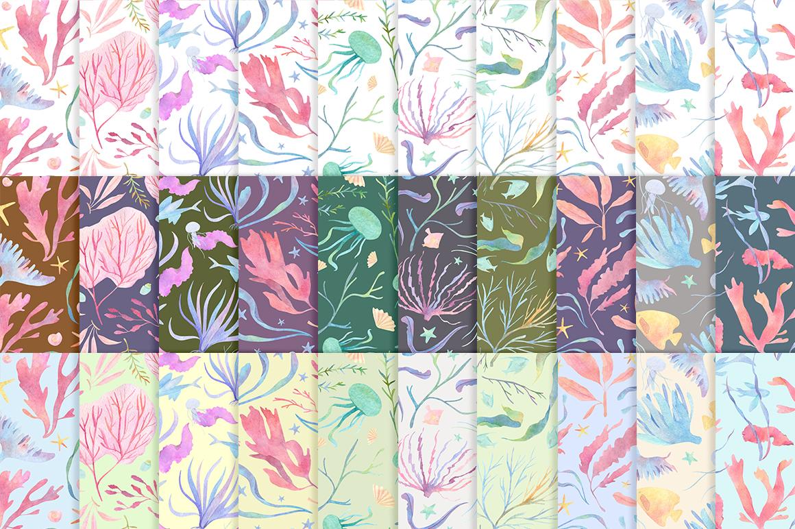 Underwater watercolor patterns - 3 %D0%BB%D0%B5%D0%BD%D1%82%D0%B0 21 -