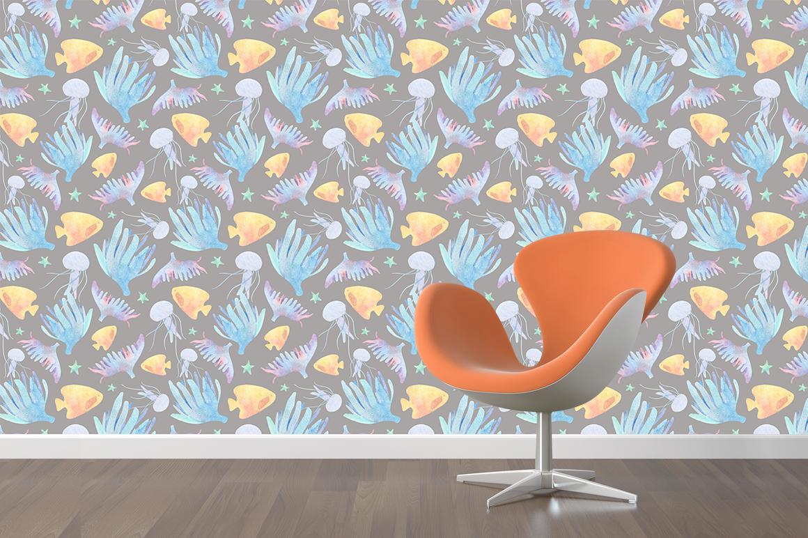 Underwater watercolor patterns - %D0%BC%D0%BE%D0%BA%D0%B0%D0%BF 1 3 -