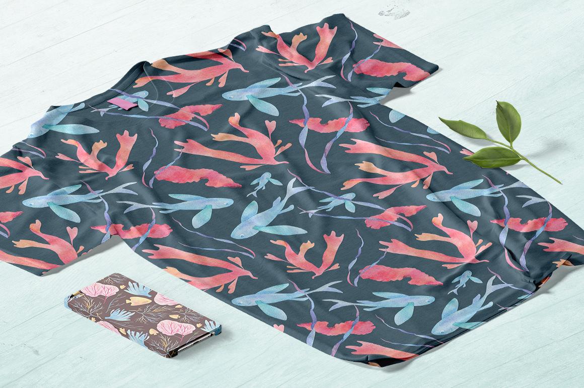Underwater watercolor patterns - %D0%BC%D0%BE%D0%BA%D0%B0%D0%BF 3 3 -