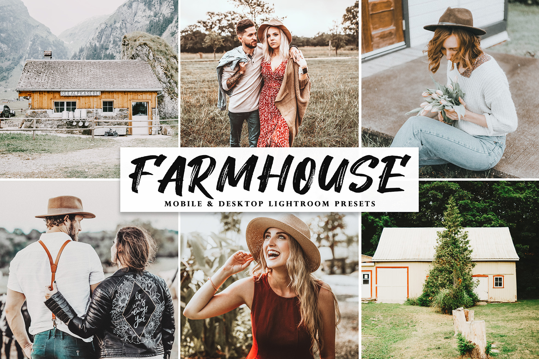 Farmhouse Mobile & Desktop Lightroom Presets - Farmhouse Mobile Desktop Lightroom Presets Cover -