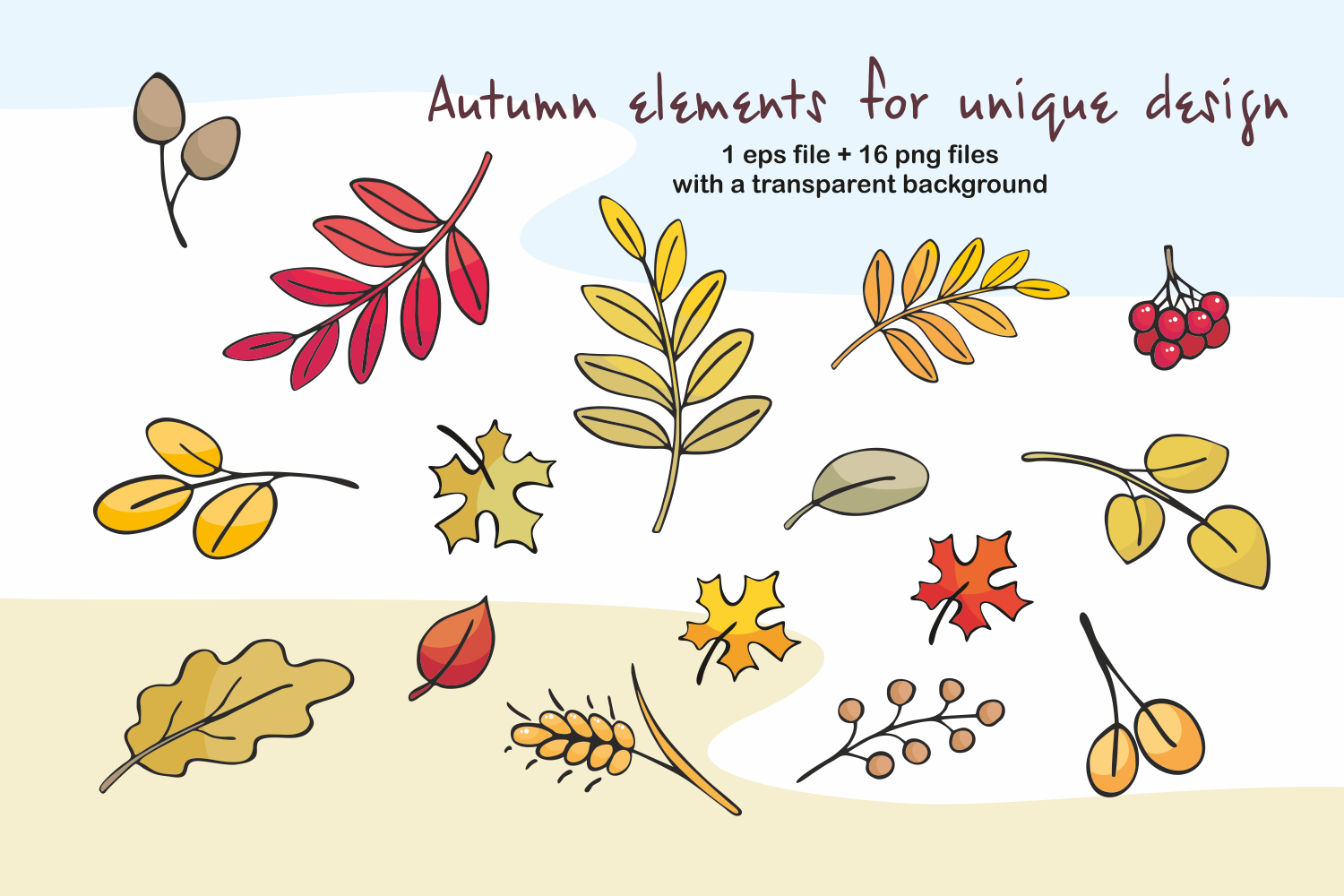 Hello autumn. Forest animals and plants in doodle style. - 0430 -
