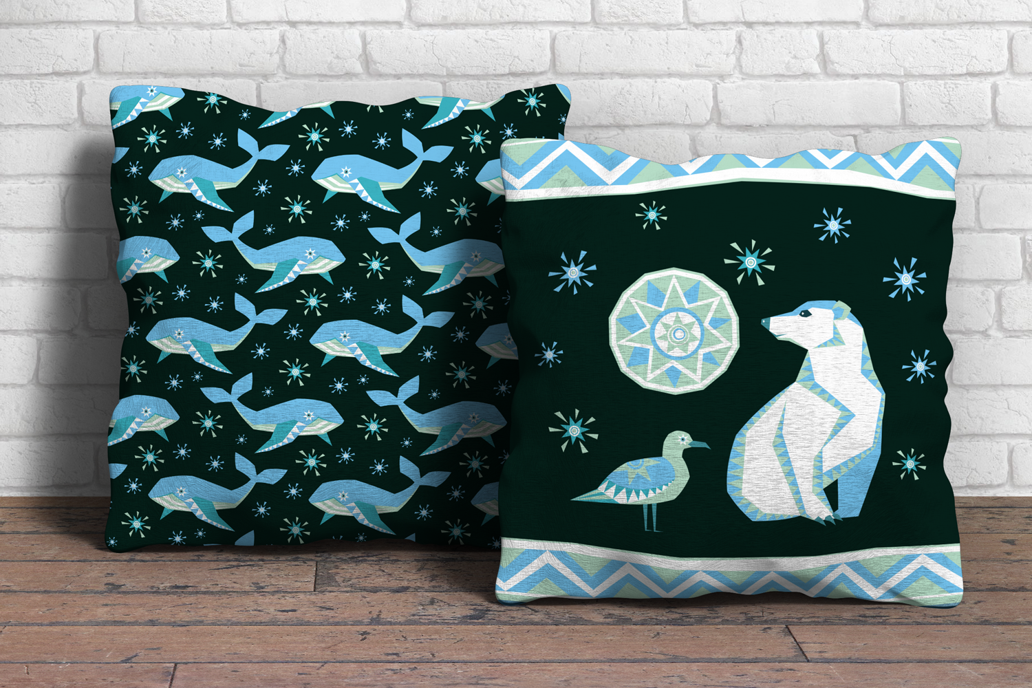 Polar night. Vector clip arts and seamless patterns in ethnic style. - 0440 -