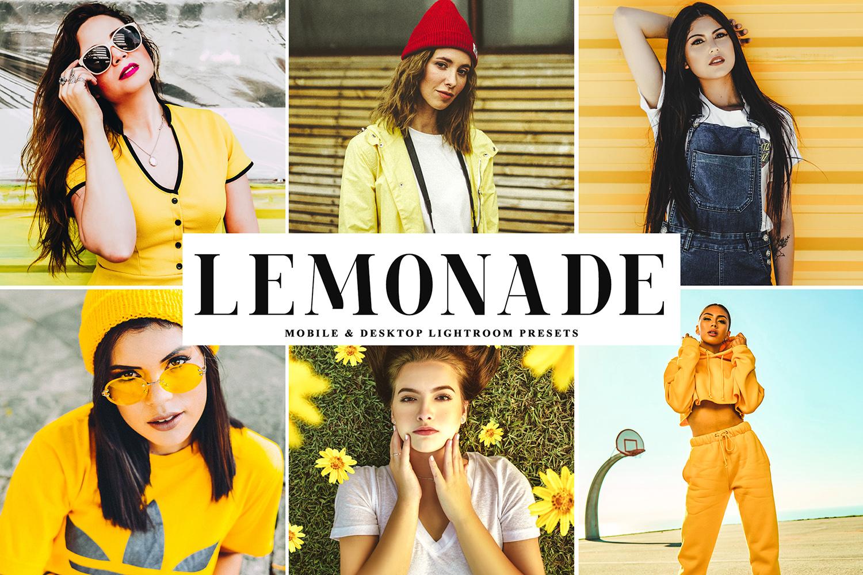 Lemonade Mobile & Desktop Lightroom Presets - Lemonade Mobile Desktop Lightroom Presets Cover -