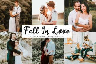 Crella Subscription - Fall In Love Mobile Desktop Lightroom Presets Cover -