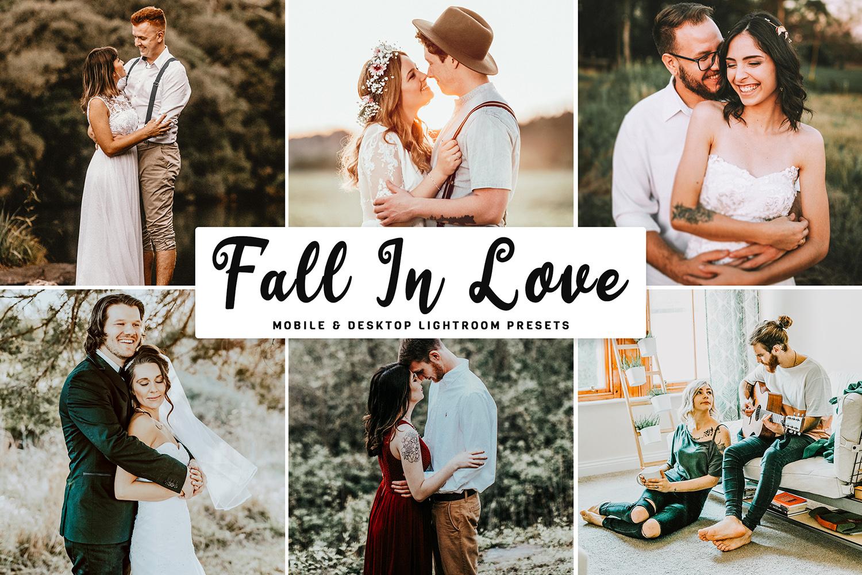 Fall In Love Mobile & Desktop Lightroom Presets - Fall In Love Mobile Desktop Lightroom Presets Cover -