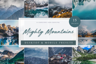 Lifestyle Lightroom Presets - Mighty Mountains LR -
