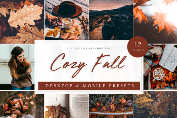 """<span style=""""display: none"""">Marketplace for Fonts, SVG files, Lightroom Presets and more</span> - Cozy Fall LR -"""