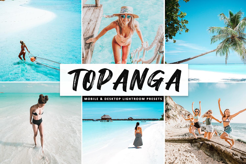 Topanga Mobile & Desktop Lightroom Presets - Topanga Mobile Desktop Lightroom Presets Cover -