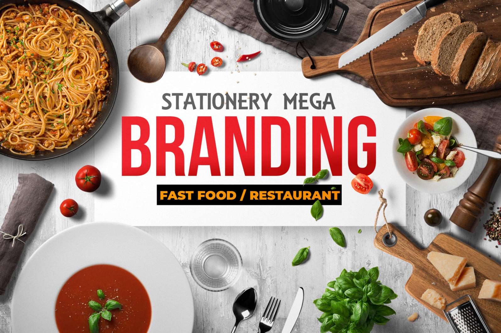 Mega Stationery Branding Identity for Fast Food and Restaurant - 00 Fast Food Branding identity Header -
