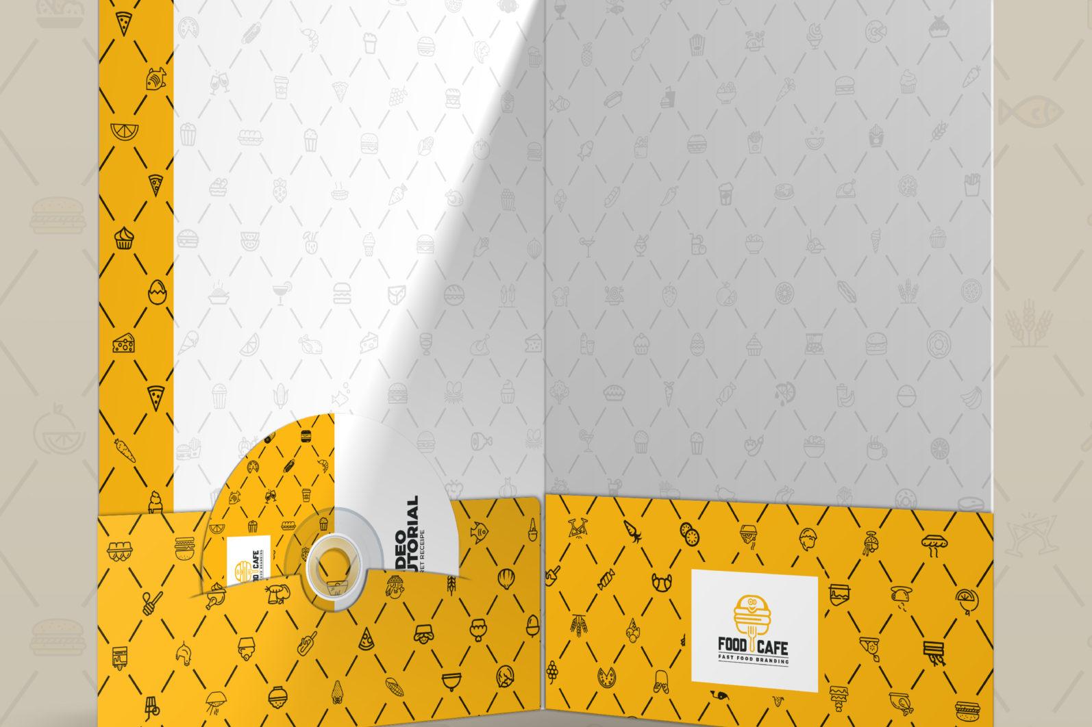Mega Stationery Branding Identity for Fast Food and Restaurant - 04 Presentation Folder -