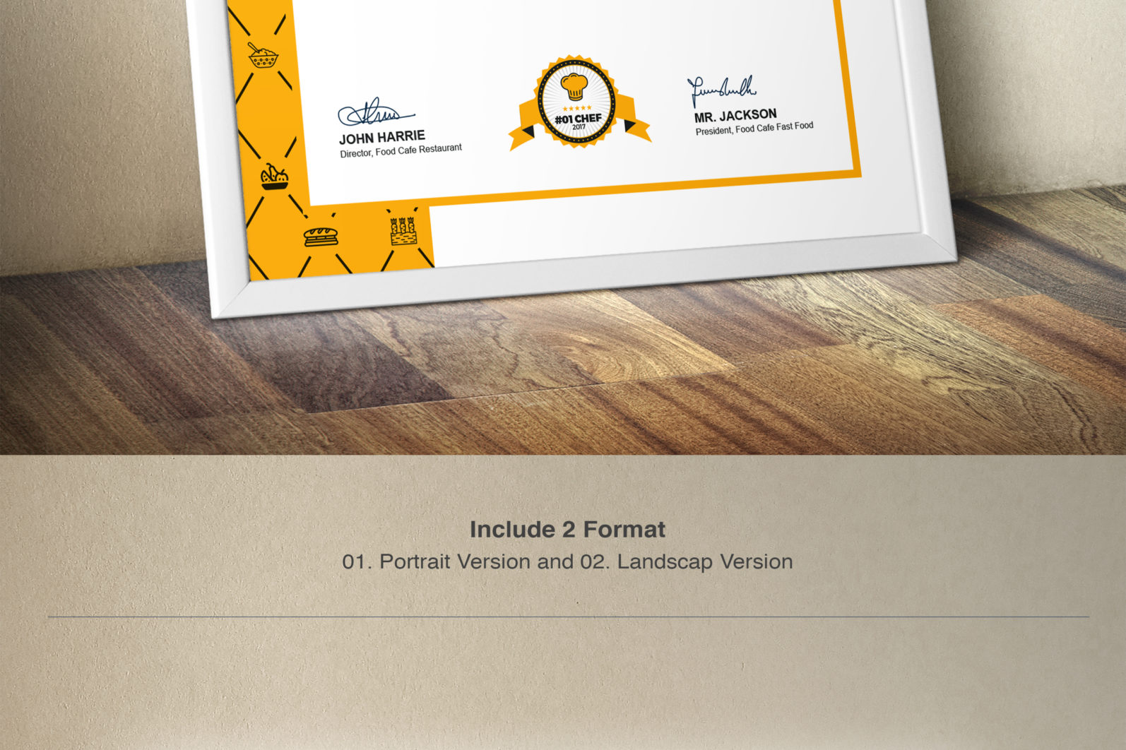 Mega Stationery Branding Identity for Fast Food and Restaurant - 13 Certificate -