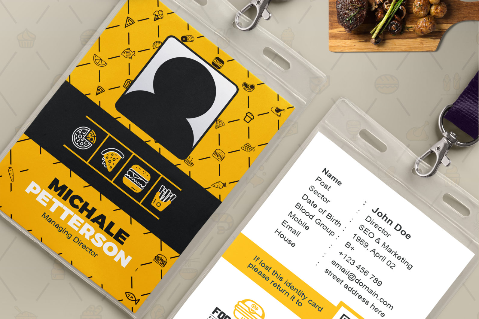 Mega Stationery Branding Identity for Fast Food and Restaurant - 16 Office ID Card -