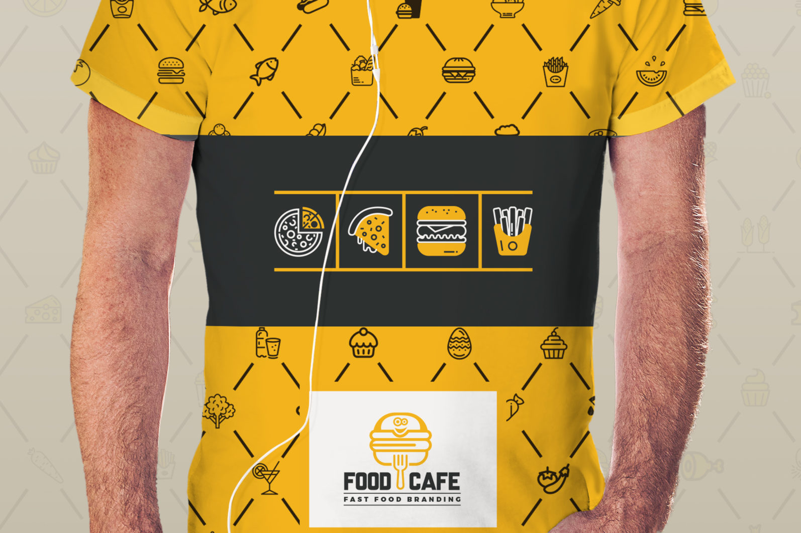 Mega Stationery Branding Identity for Fast Food and Restaurant - 19 T Shirt -