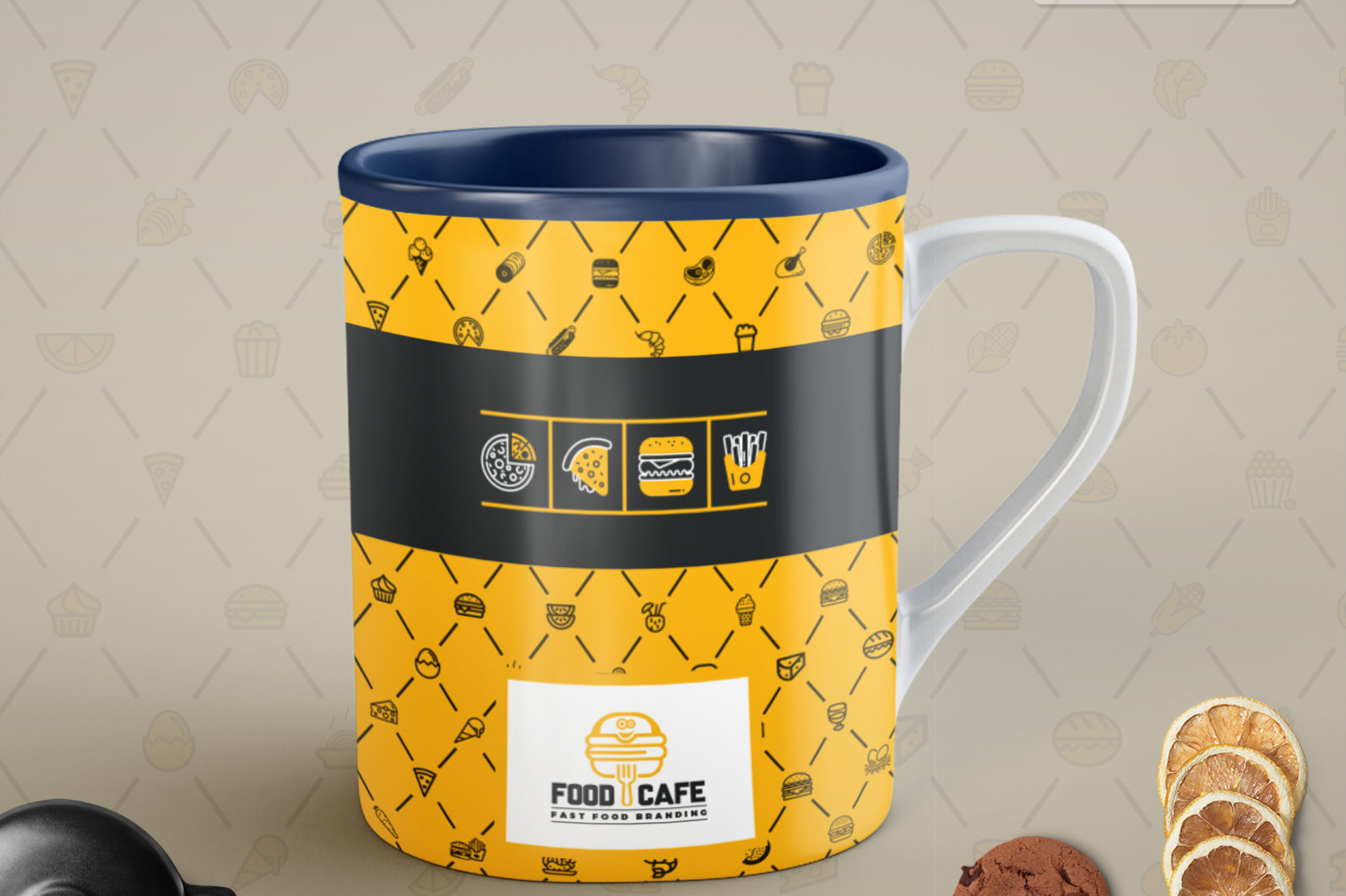 Mega Stationery Branding Identity for Fast Food and Restaurant - 22 Mug Coffe Cup -