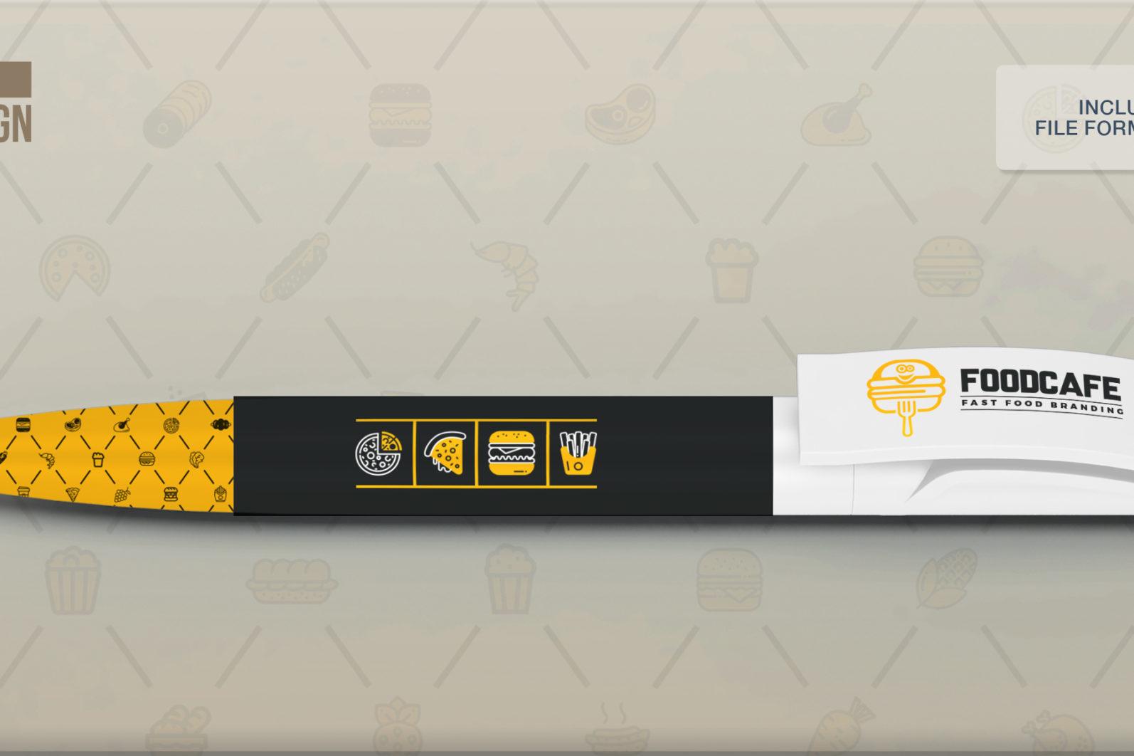 Mega Stationery Branding Identity for Fast Food and Restaurant - 23 Pen -