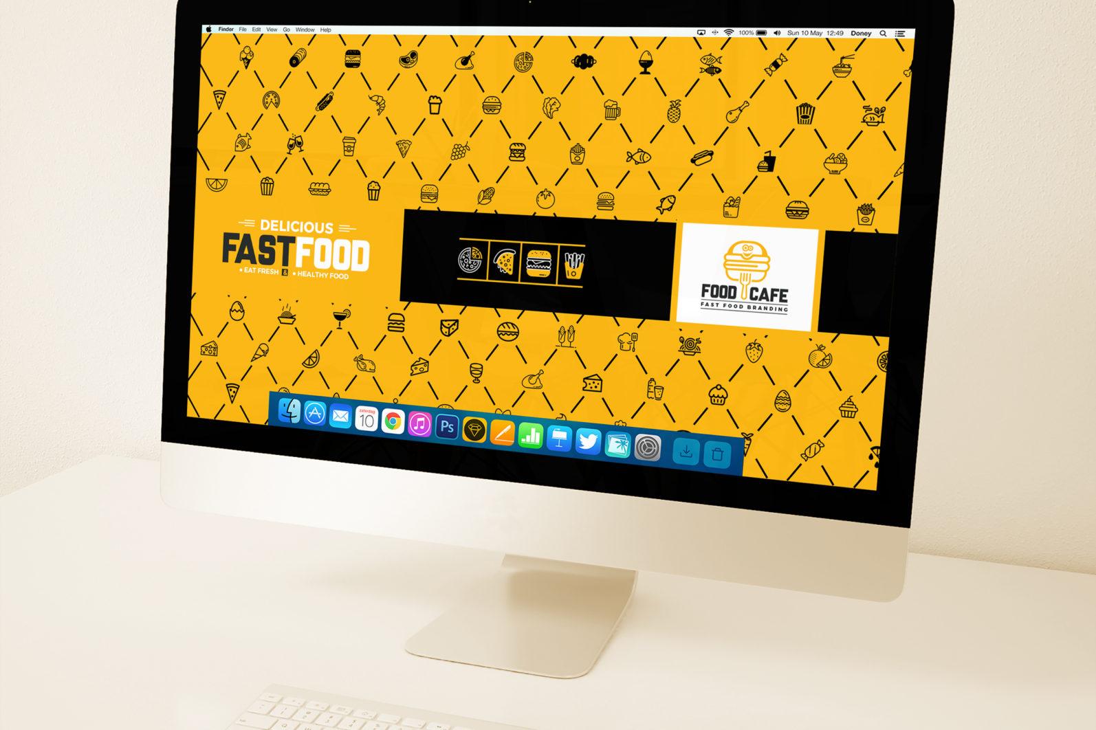 Mega Stationery Branding Identity for Fast Food and Restaurant - 26 Desktop Wallpaper -