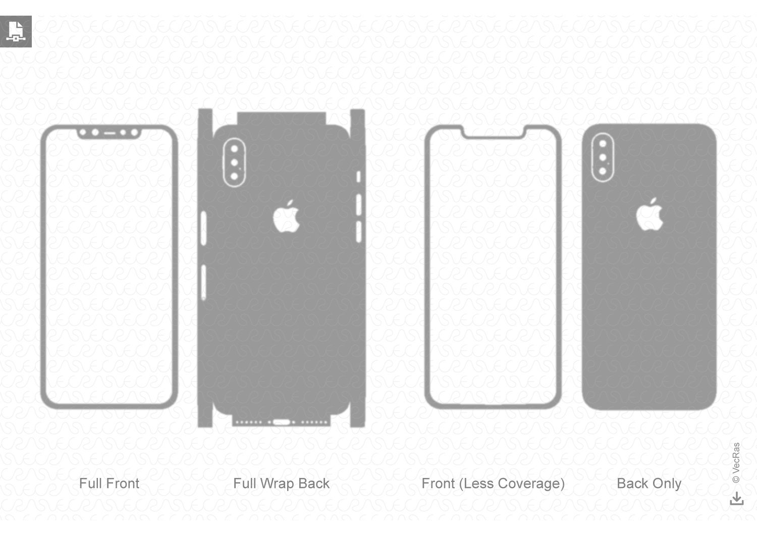 Template for cutting or design DIGITAL DOWNLOAD iPhone 8 Skin Template File