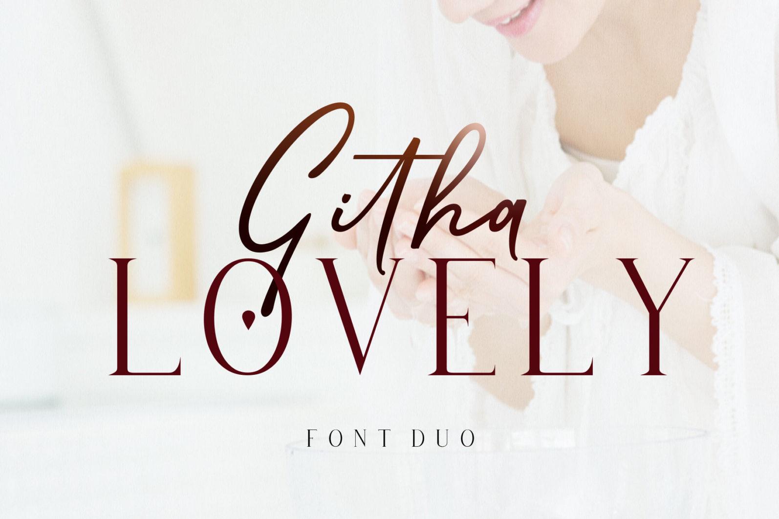 Githa Lovely Font Duo - Cover29 -