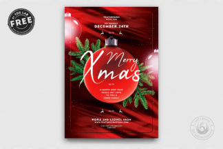 All Freebies - 02 Free Christmas Eve Flyer Template -