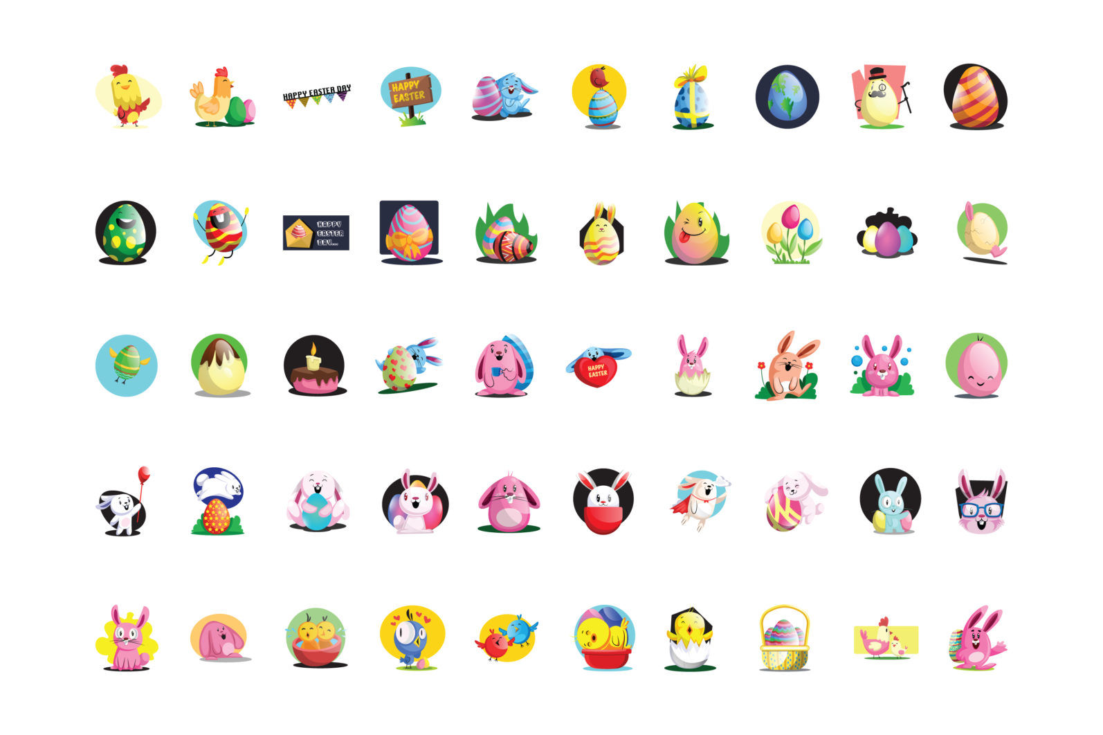 50X Easter Custom illustrations set/collection - 21 Easter Set 50x ALL EXAMPLES -
