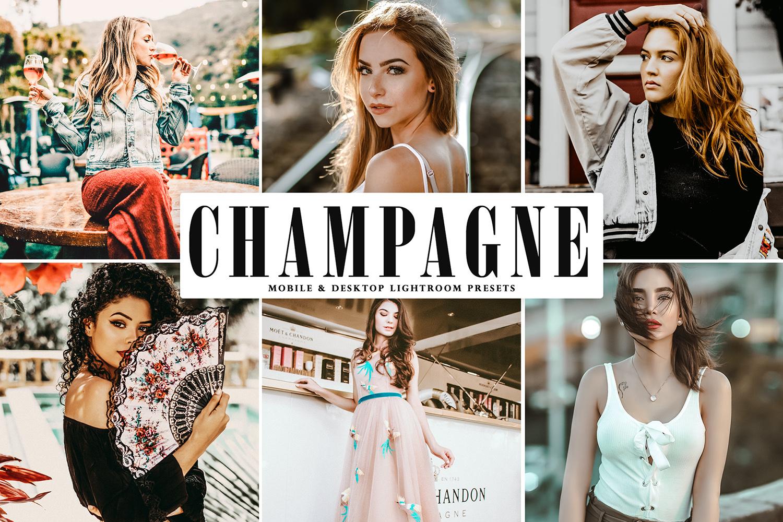 Champagne Mobile & Desktop Lightroom Presets - Champagne Mobile Desktop Lightroom Presets Cover -