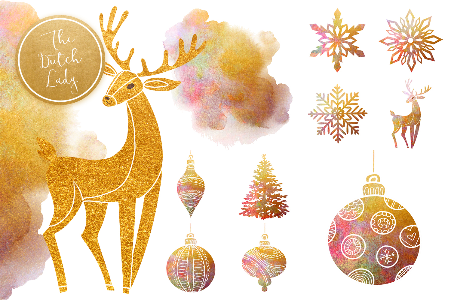 christmas ornaments clipart set crella crella