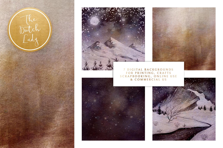 Digital Backgrounds & Scrapbook Papers - Winter Sceneries - scrapbook papers -