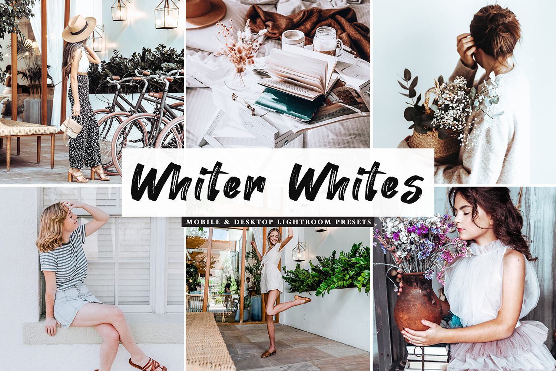 Whiter Whites Mobile & Desktop Lightroom Presets - Whiter Whites Mobile Desktop Lightroom Presets Cover -