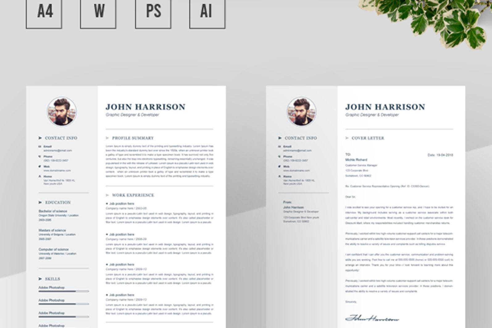 Resume Template - 02 Resume Cover Letter15 -