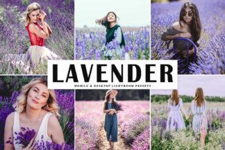 $1 Lightroom Preset Deals - Lavender Mobile Desktop Lightroom Presets Cover -