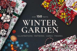 Crella Subscription - winter floral patterns 01 -