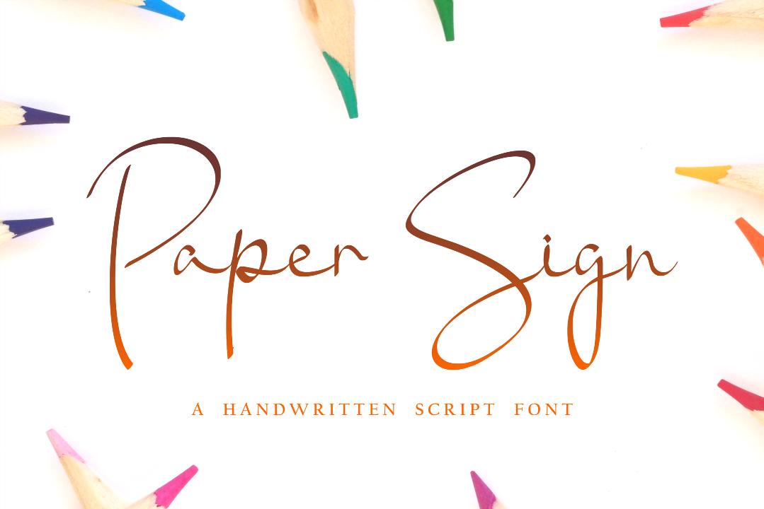 Creative Font Bundle - Preview Paper Sign 1 -