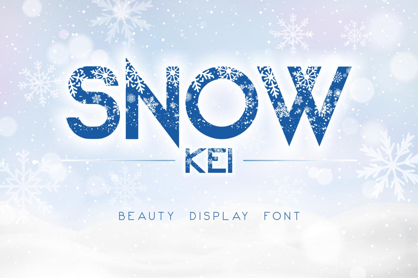 Creative Font Bundle - Preview Snow Kei 1 -