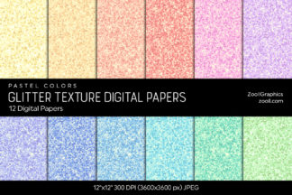Winter Bokeh Digital Papers Crella