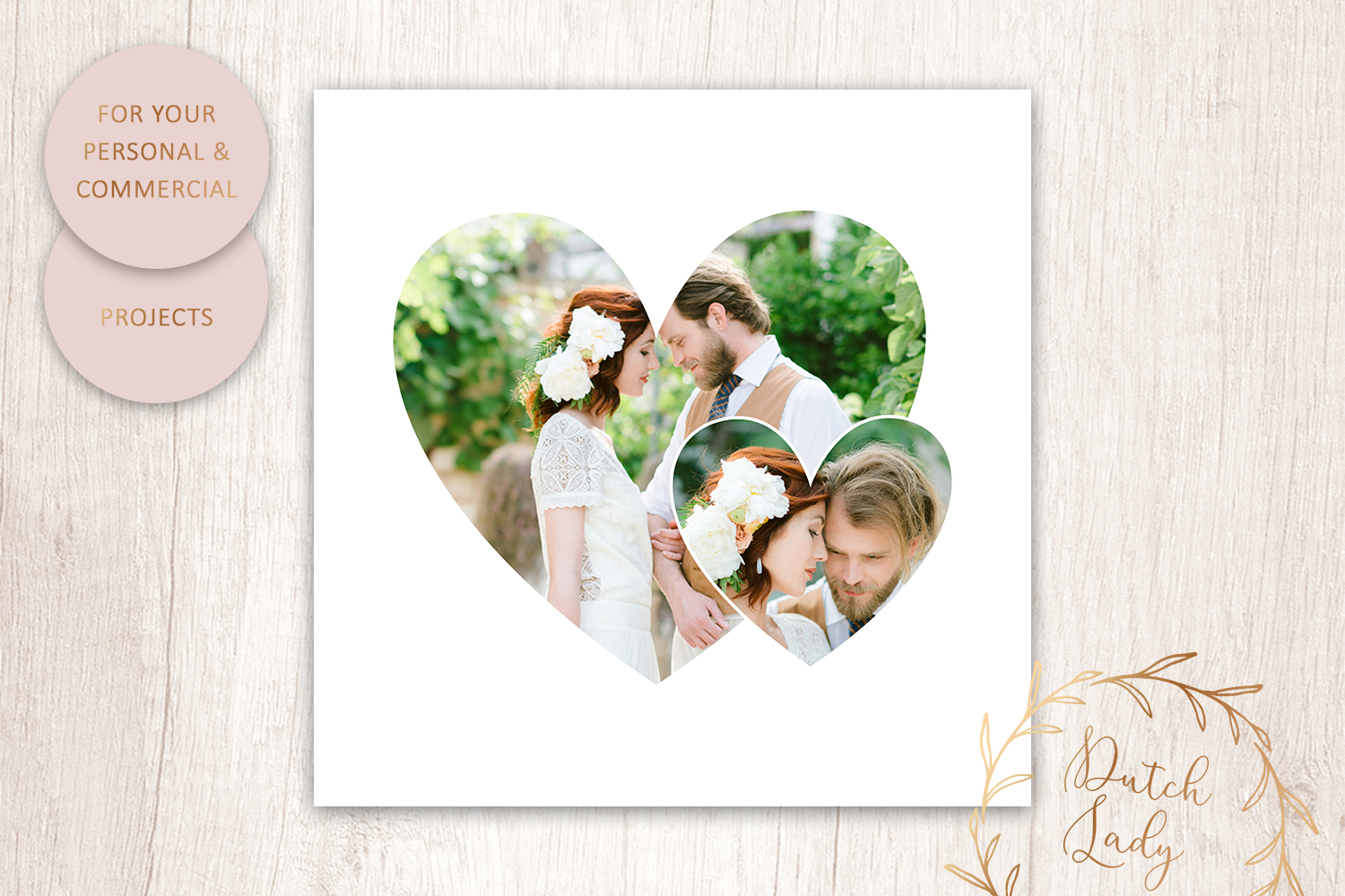PSD Photo Collage - Adobe Photoshop Template - #4 - image collage template -