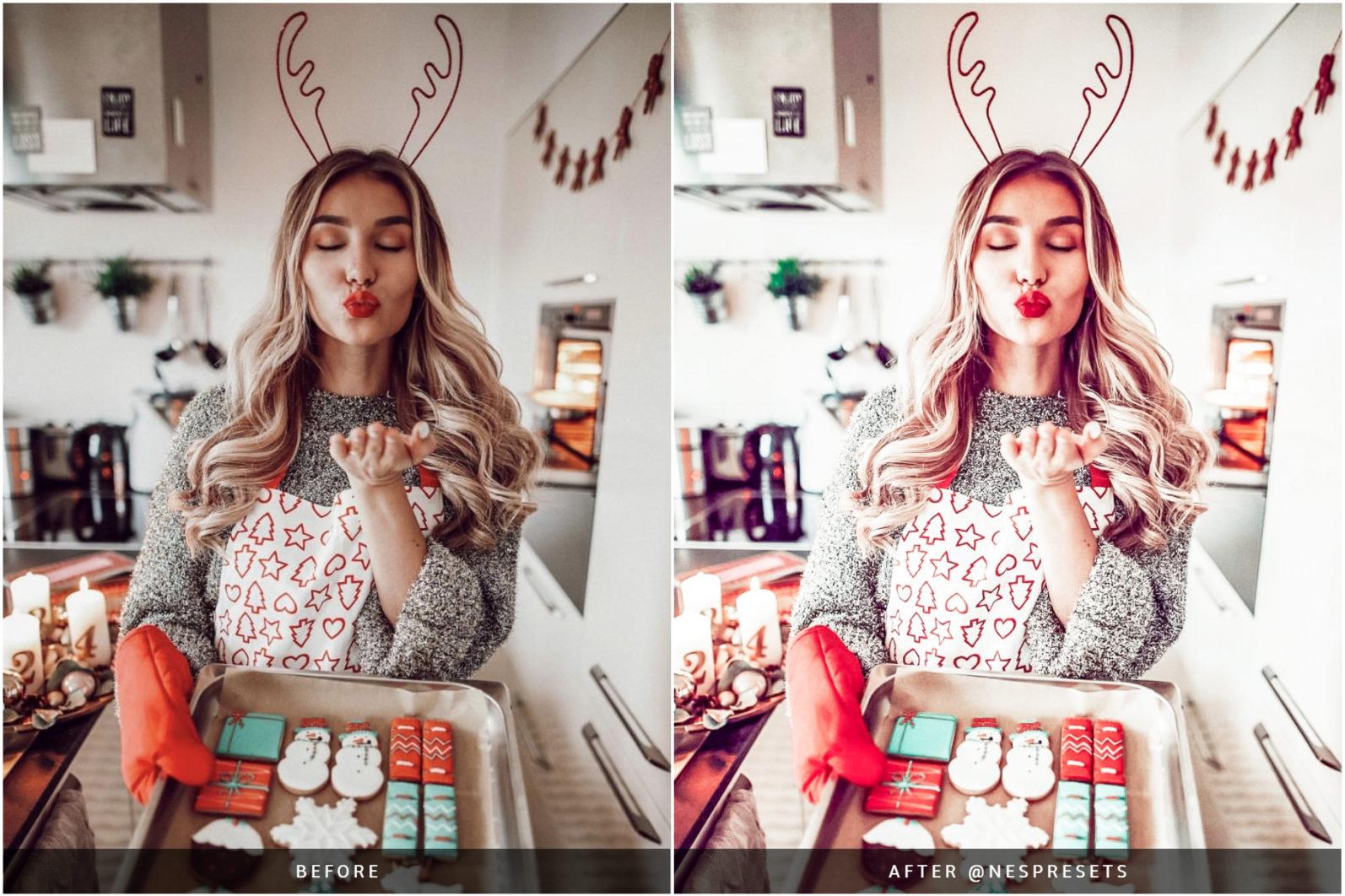 260 Lightroom Presets BUNDLE - Mobile & Desktop Presets - Christmas Preset Preview 01 -