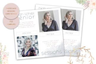 Crella Subscription - photo session card template square -