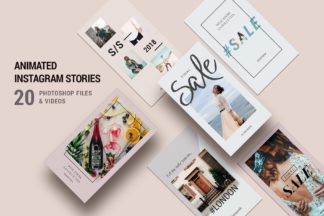 Crella Subscription - 00 clean modern instagram story templates -