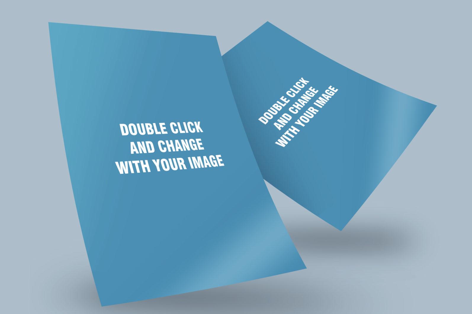 Resume and Flyer PSD Mockup - Mockup Flyer 9 scaled -