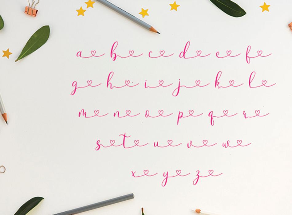 Loveyou - Romantic Font - 6 43 -