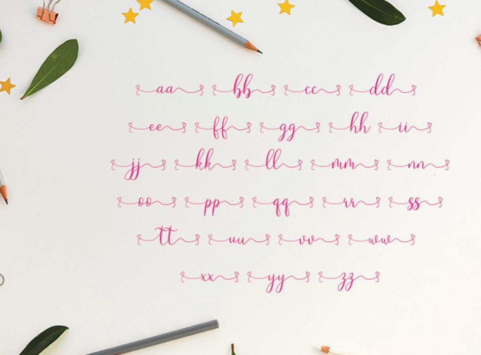 Loveyou - Romantic Font - 7 35 -